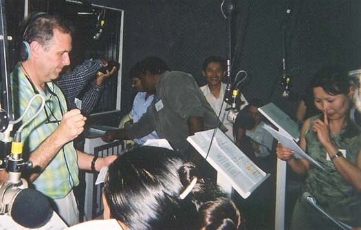 Tony directing a United Nations radio drama in Manila