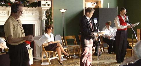 "Tony directing ""A Christmas Carol"" - 2004"